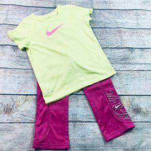 Nike Girls sz 4-6 sweatpant & dri-fit tee